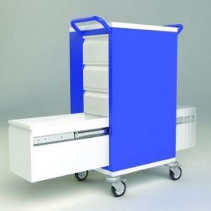 Dvojcestná výsuv typ 2026, lékařský vozík
