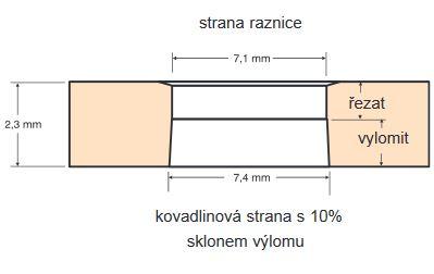 montážní otvor pro lísování