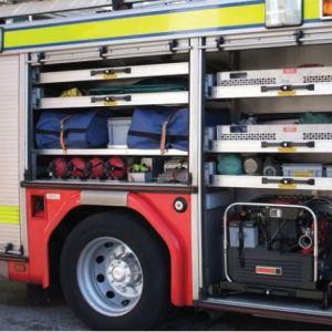 Teleskopické výsuvy typ 9308 v hasičském voze