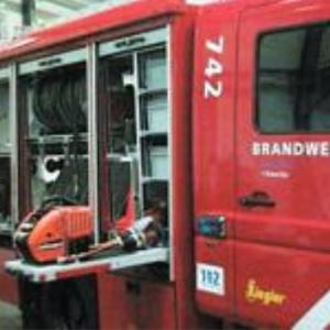 Teleskopické výsuvy typ DP9301 v hasičském voze