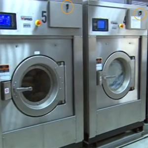 Uzavření v průmyslové pračce- pákový uzávěr typ 19