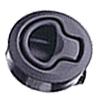 Plochý zaskakovací uzávěr, s madlem, umělá hmota, černý (M1)